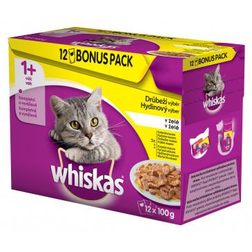Whiskas kapsička 1200g Drůbeží výběr v želé