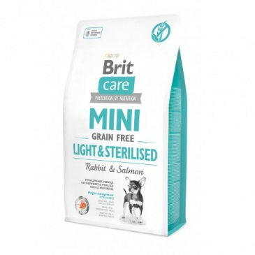 Brit Care Mini 2kg Light Sterilised grain free rabbit+salmon