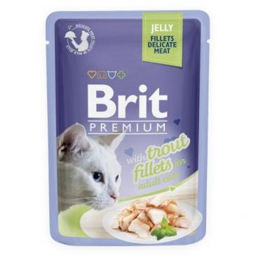 Brit premium 85g cat kaps.filety se pstruhem v želé