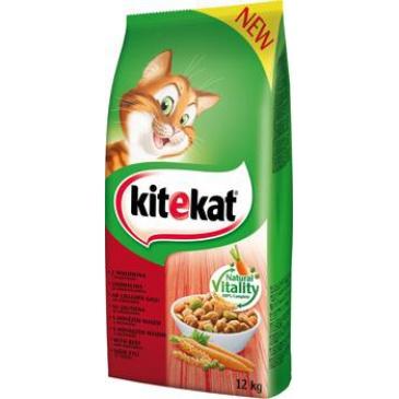 Kitekat Dry s hovězím a zeleninou 12kg