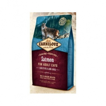 Carnilove Salmon adult cats sensitive+long hair 2kg
