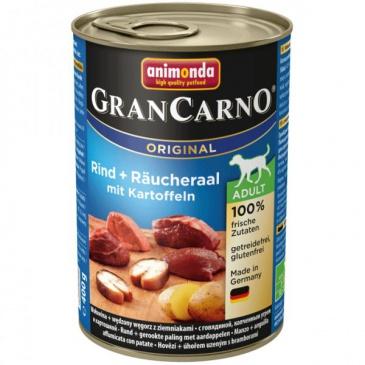 Grancarno konzerva 400g uzený úhoř + brambory