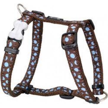 Postroj Red Dingo 12 mm x 30-44 cm - Blue Spots on Brow