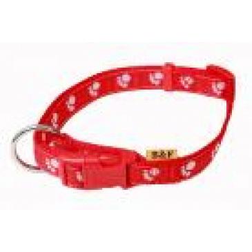 BaF Obojek Tlapky. 10x20-35cm červená