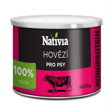 Nativia konzerva hovězí svalovina 400g