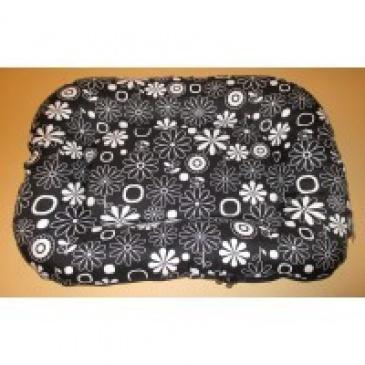 Ponton zip Trendy 70x50cm černobílé květy+černá