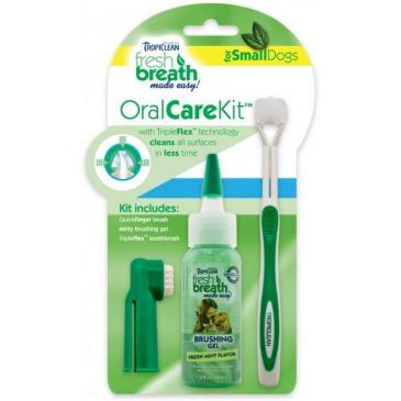 Tropiclean Oral Kit S - gel s kartáčky - pro psy - 59 ml