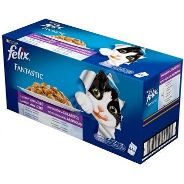 FELIX Fantastic Multipack  44 x 100g  Výběr mix v želé