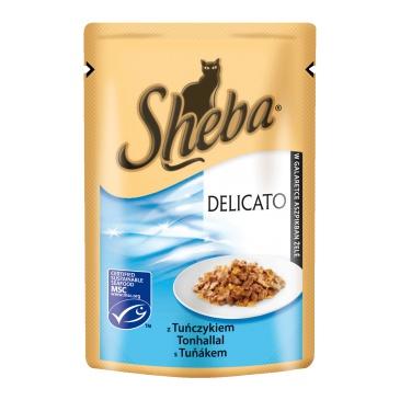 Sheba kapsička Delikatesse in Gelee tunák 85g
