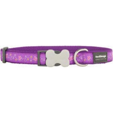 Obojek Red Dingo 25 mm x 41-63 cm - Butterfly Purple