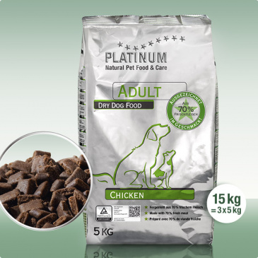 Platinum Natural Chicken 15kg (3x5kg)