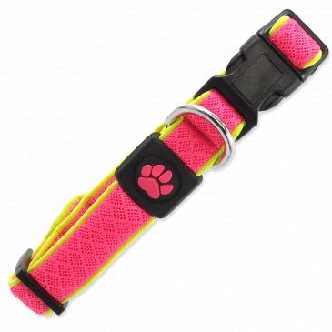 Obojek ACTIV DOG Fluffy Reflective růžový S