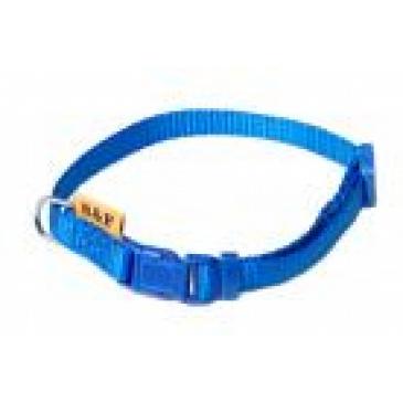 BaF Popruhový obojek 10x20-35cm modrý