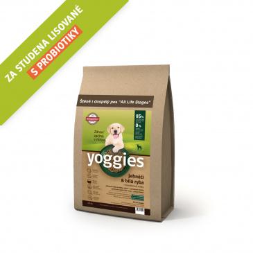 Yoggies jehněčí a bílá ryba 1,2kg Minigranule