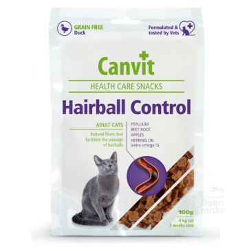 Canvit snack cat Hairball Control 100g