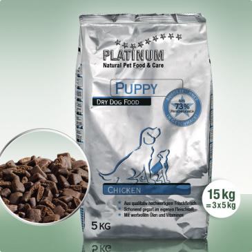 Platinum Natural Puppy Chicken 15kg (3x5kg)