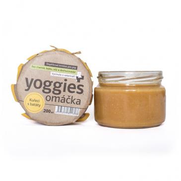 Yoggies Omáčka pro psy s kuřecím masem, batáty a bylinkami 200ml