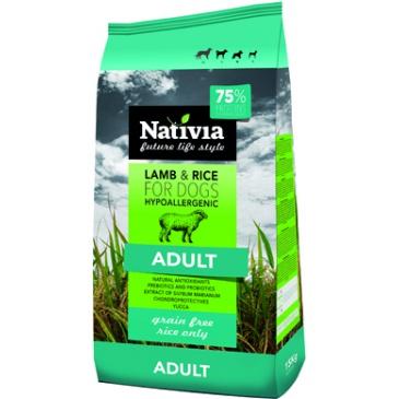 Nativia Adult Lamb&Rice 3kg NEW