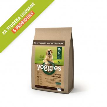 Yoggies jehněčí a bílá ryba 1,2kg