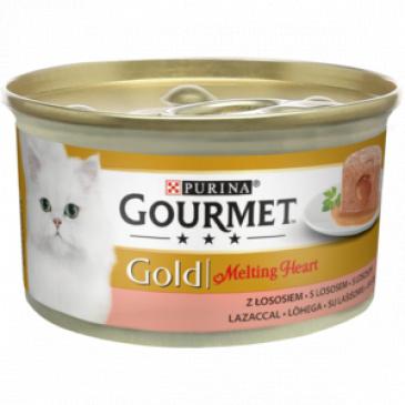 Gourmet Gold Melting hearth, pašt. s omáčkou, losos 85g