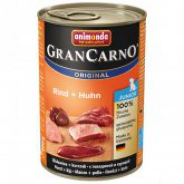 Grancarno konzerva 400g JUNIOR hovězí, krůtí srdce