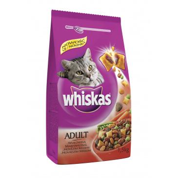 Whiskas granule hovězí 1,4kg