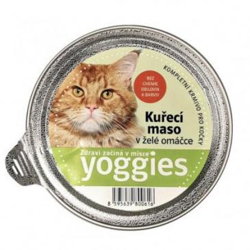 Yoggies mističky s kuřecím masem a želé omáčkou pro kočky 85g