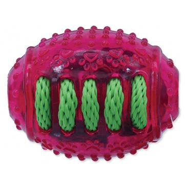 Hračka DF rugby míč gumový růžový 8 cm