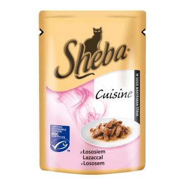 Sheba kapsička Selection in Sauce s Lososem 85g
