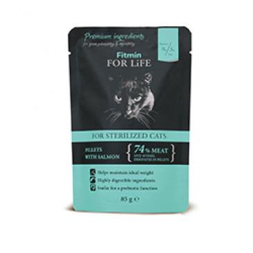 Fitmin cat pouch sterilized salmon 85g