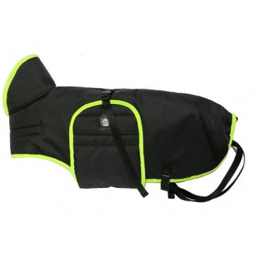Zero DC Pláštěnka - černá s neonově zeleným lemem 40cm