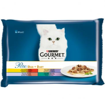 Purina Gourmet Perle Duo Multipack masové duo 4 x 85 g