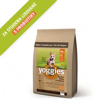 Yoggies Active Kachna a zvěřina 1,2kg