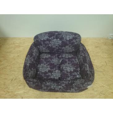 Pohovka Iridog č.2 fialová + květy