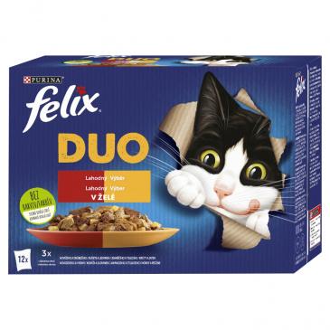 FELIX Fantastic Duo lahodný výběr v želé 12 x 85 g
