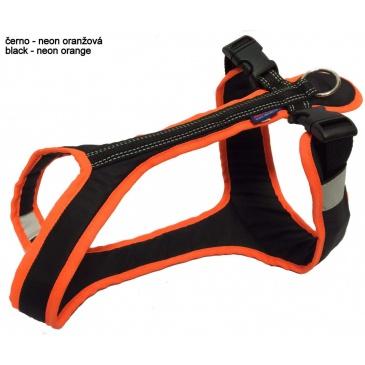 Zero DC Postroj SHORT neon oranžová-černá S/M