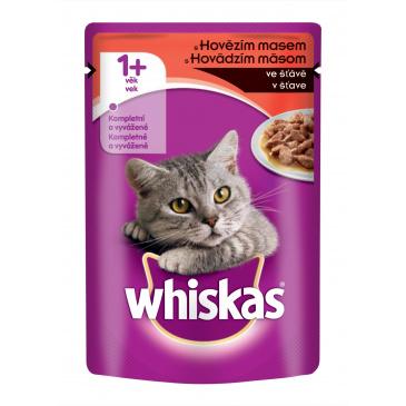 Whiskas kapsička 100g Hovězí ve šťávě
