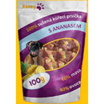 Hanny Food Sušená kuřecí prsa s ananasem 100g