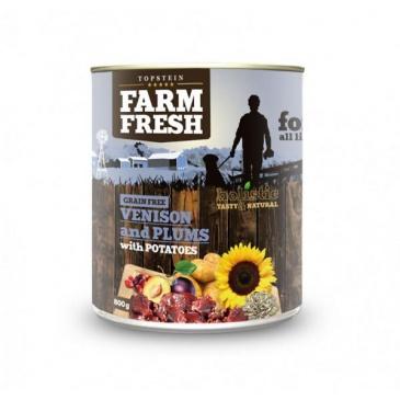 Farm Fresh VENISON and plums konzerva 800g
