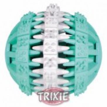 DENTAfun míč mátový zeleno/bílý 6cm