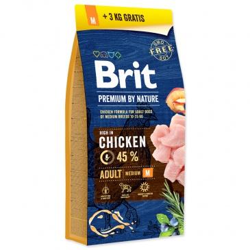 BRIT Premium by Nature Adult M 15kg +3kg ZDARMA