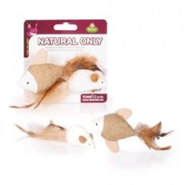 Hračka Natural Only Cat rybka myš