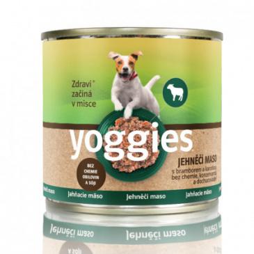 Yoggies jehněčí konzerva s ovesnými vločkami a zeleninou 200g