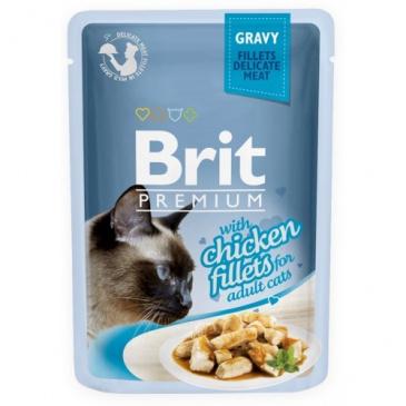 Brit premium 85g cat kaps.filety s kuřecím ve šťávě