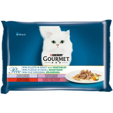 Gourmet Perle Multipack minifiletky ve šťávě se zeleninou 4x85 g