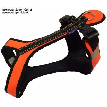 Zero DC Postroj SHORT neon oranžová - černá, SX