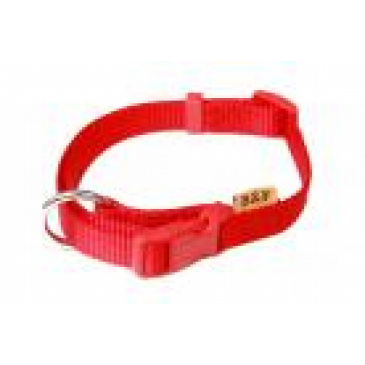 BaF Popruhový obojek 15x30-50cm červený