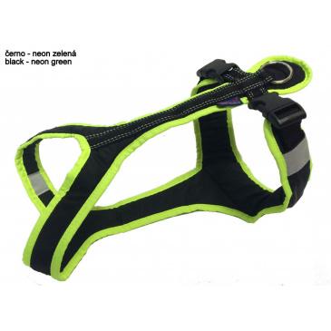Zero DC Postroj SHORT neon zelená-černá M