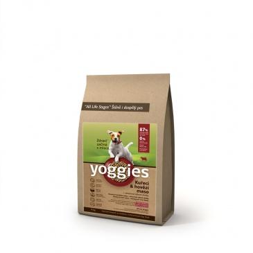 Yoggies kuřecí a hovězí maso 4kg Minigranule