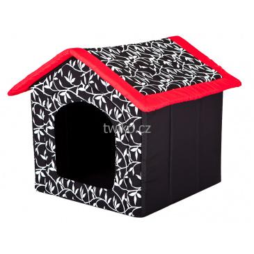 Bouda pro psa - Červený lem střechy L